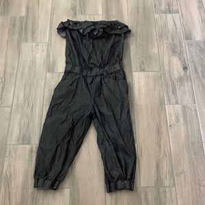 Ruffle tube top jumpsuit